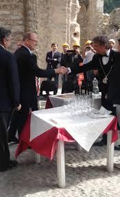 Giancarlo in servizio con un ospite d'eccezione: principe Albert II di Monaco