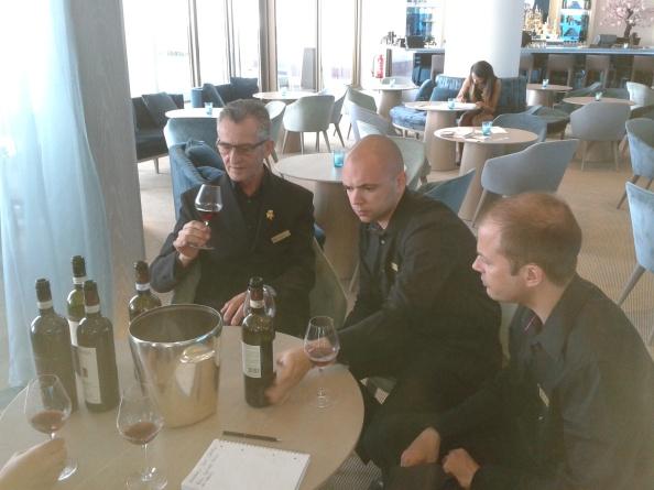 da destra a sinistra ecco Branko Grizelj, Anthony Fordham e Cristophe Dumas